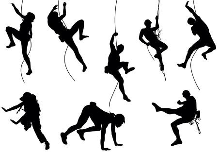 kletterer: Klettern Vektor-Illustration