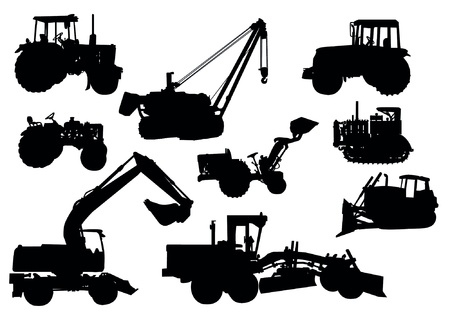 agronomics: Tractor silhouettes