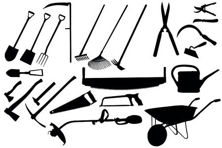Jardinage collection d'outils Vecteurs