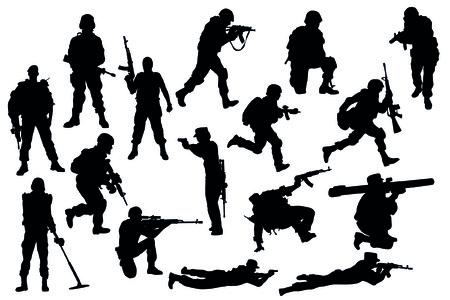 militar Ilustración de vector
