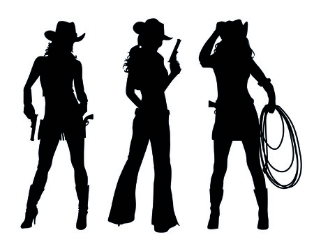 silhouette: cowboy Illustration