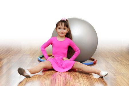 gimnasia aerobica: chica para ir para el deporte Foto de archivo