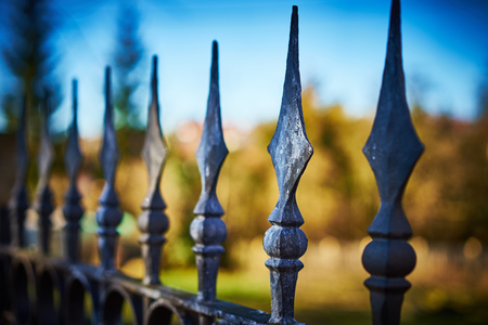 Fence with finials terrifying fence with Spearheads privateProperty