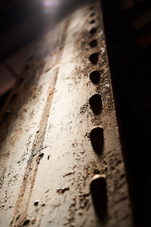 steel girder: rivets on steel girder