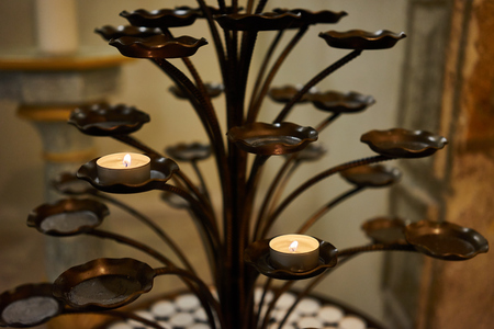 christian candle: candles for meditation