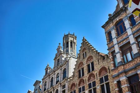 Beautiful old town of Bruges in Belgium