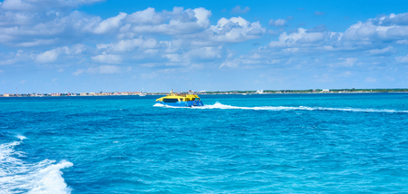 Coastline of northern Cancun at Harbor Stock Photo