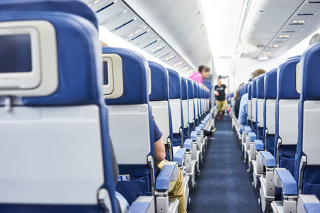 The inside of a public plane Standard-Bild