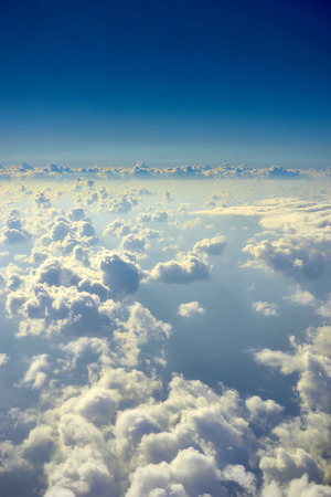 Cloudscape from above  Tranquility in the heavens above Reklamní fotografie
