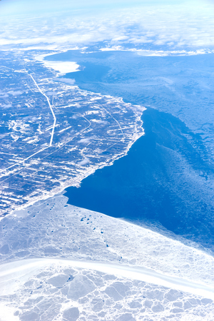 Environmental Issues of Global Warming at Arctic Lands  Arctic Ocean and northern Stock Photo