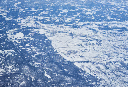 Northeast Canada from high above / Arctic lands of Newfoundland