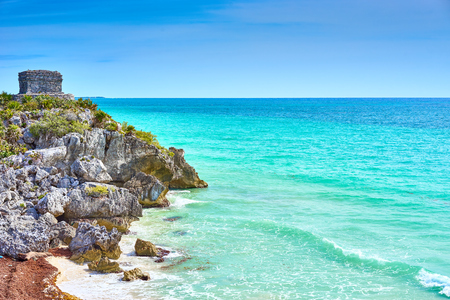 Caribbean coast of Mexico - Quintana Roo - Cancun - Riviera Maya Stock Photo