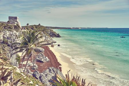 Caribbean coast of Mexico - Quintana Roo - Cancun - Riviera Maya Standard-Bild