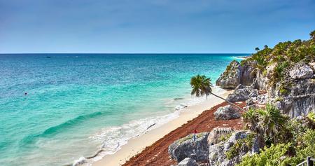 Caribbean coast of Mexico - Quintana Roo - Cancun - Riviera Maya Stock Photo