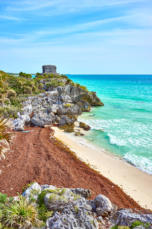 Ruins of Tulum  Caribbean coast of Mexico - Quintana Roo - Cancun - Riviera Maya