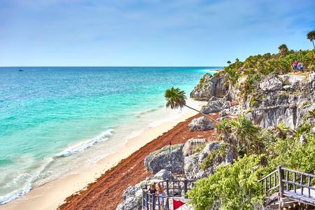 roo: Ruins of Tulum  Caribbean coast of Mexico - Quintana Roo - Cancun - Riviera Maya