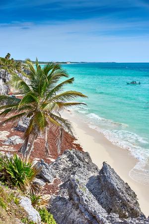 Ruins of Tulum  Caribbean coast of Mexico - Quintana Roo - Cancun - Riviera Maya