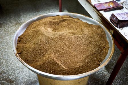 Coffee Powder at Farm in Guatemala  Organic coffee production
