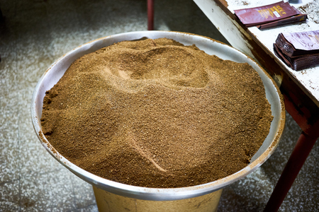 Coffee Powder at Farm in Guatemala / Organic coffee production