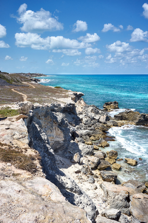 Southernmost point of the island Isla Mujeres next to Cancun in Mexico
