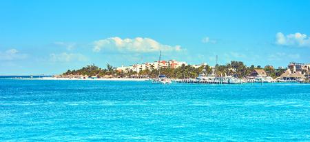 Caribbean Island with very nice beaches next to Cancun Standard-Bild
