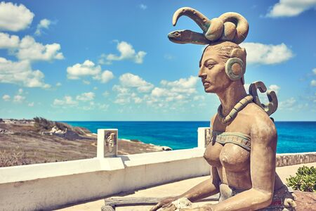 Ixchel God of Mayas in Mexico 写真素材