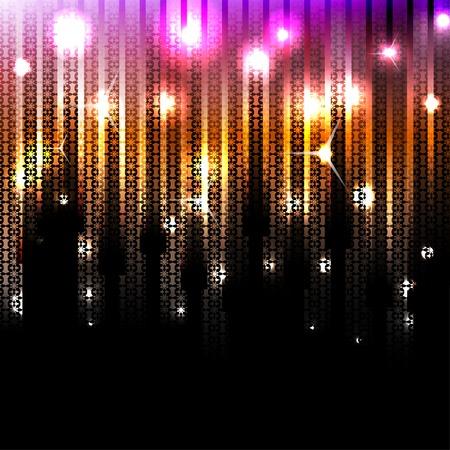 Vector abstracte gloeiende disco achtergrond Vector Illustratie