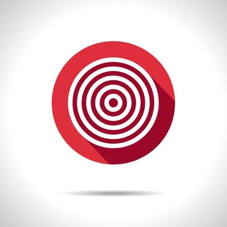 ziel icon: Vector red Zielsymbol.