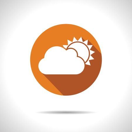 cloudiness: Vector orange cloudiness icon.
