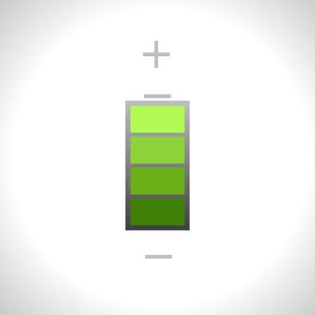 Vector green battery icon. Eps1 Vector