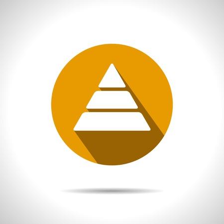 picto: orange pyramid icon.  Illustration