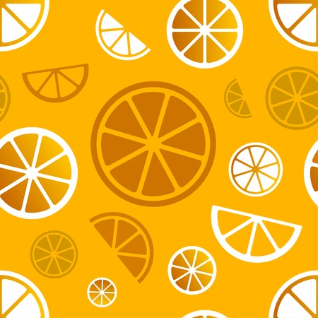 Vector seamless citrus pattern. Vector