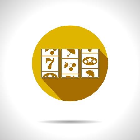lever arm: Vector yellow slot icon. Eps10 Illustration