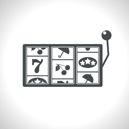 lever arm: Vector gray slot icon.  Illustration
