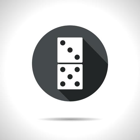 domino: Vector black domino icon.