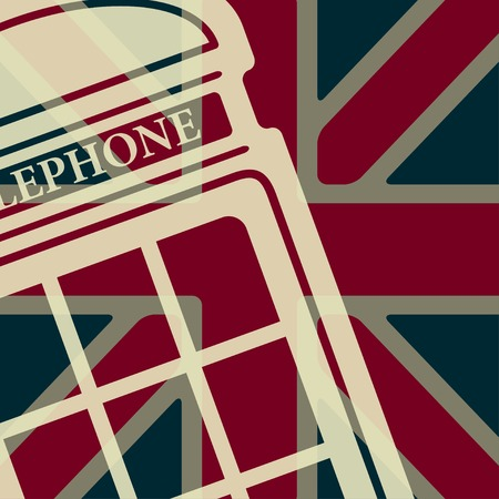 phonebox: Vector british red telephone box icon  Illustration