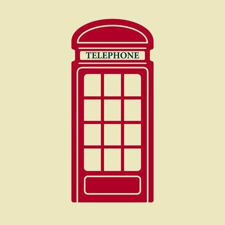 Vector Britse rode telefooncel icoon