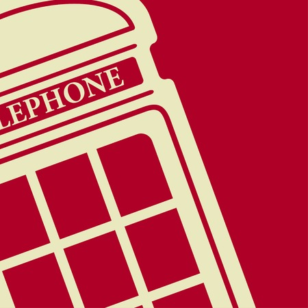 phonebox: Vector british red telephone box icon  Illustration