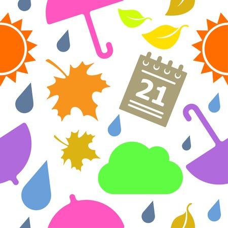 sun drop: Vector seamless weather pattern with sun drop cloud  Eps10 Illustration