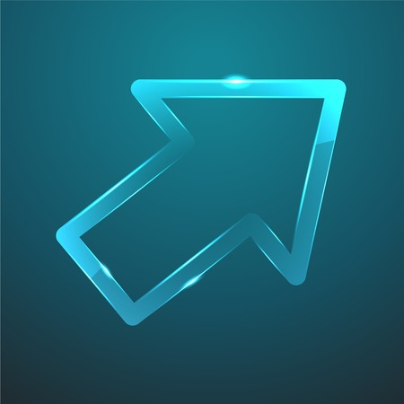 gloss: Vector blue gloss glass pointer icon  Eps10