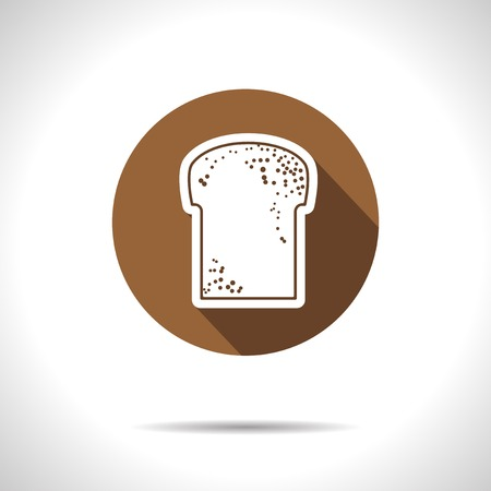 broun: Vector broun bread flat icon with shadow  Eps10
