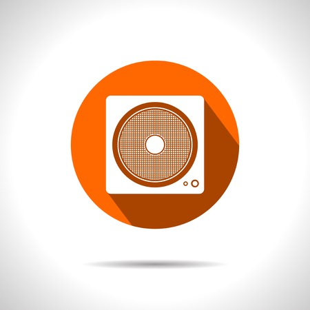 Vector red load speaker flat icon  Eps10 Vector