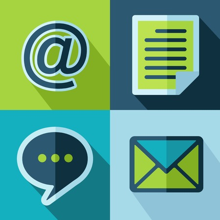 Vector retro color office set icons  Eps10