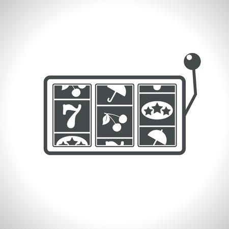 Vector gray slot game flat icon  Eps10