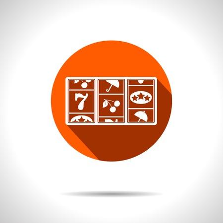 Vector orange slot flat icon with shadow  Eps10
