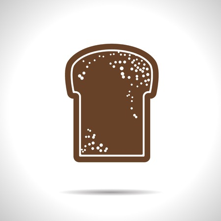 broun: Vector flat isolate broun bread flat icon with shadow  Eps10 Illustration