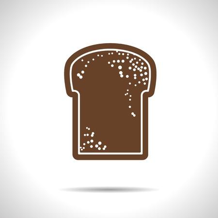 broun: Vector flat isolate broun bread flat icon with shadow  Eps10 Illustration
