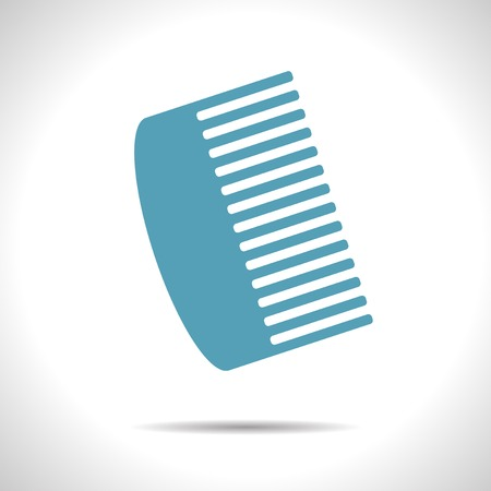 hairbrush: Vector blue hairbrush flat icon with shadow  Eps10