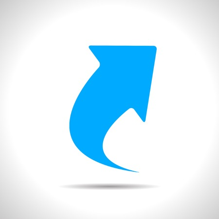 Vector flat isolate blue arrow icon  Eps10