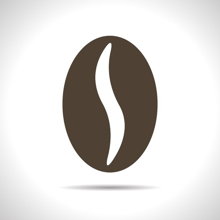 grind: Vector flat isolate brown coffee bean icon  Eps10